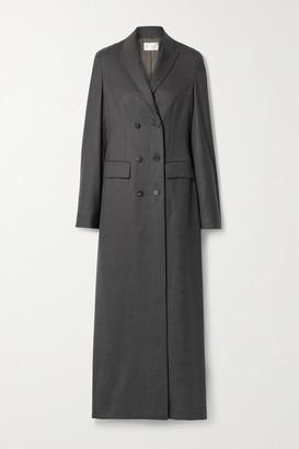The Row Marleen Double-breasted Wool Coat - Dark gray