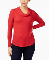 Style&Co. Style & Co Cowl-Neck Waffle-Knit Top, Created for Macy's