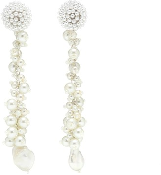 Oscar de la Renta Faux pearl-embellished earrings