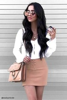 Forever 21 Lace-Up Mini Skirt