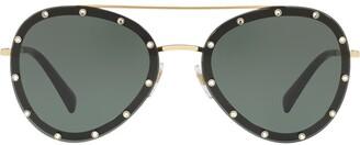 Valentino Eyewear Crystal Embellished Aviators