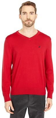 Nautica Navtech V-Neck Sweater (Charcoal Heather) Men's Sweater