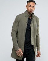 Religion Jersey Parka With Panel Sleeves and Fishtail