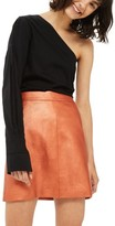 Topshop Women's Faux Leather Skirt