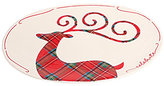 Mud Pie Holiday Tartan Reindeer Platter