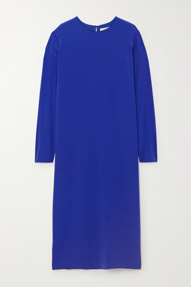 TOVE Nova Silk-crepe Midi Dress - Blue