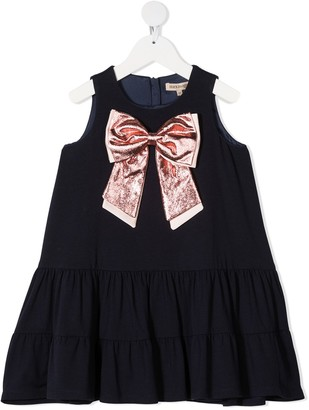 Hucklebones London Metallic Bow-Detail Dress