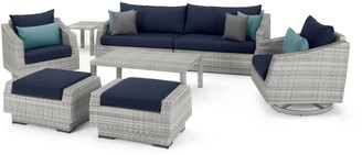 RST Brands Cannes Deluxe 8 Piece Sofa & Club Chair Set