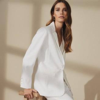 The White Company Tuxedo Jacket, Ivory, 12