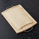 Crate & Barrel Maple Reversible Carving Board III