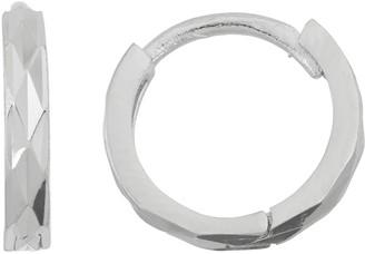 Junior Jewels Kids' Sterling Silver Textured Hoop Earrings