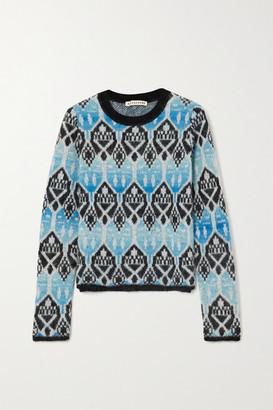 ALEXACHUNG Jacquard-knit Sweater - Blue