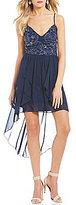 Jodi Kristopher X-Back High-Low Dress