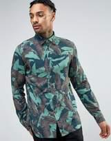 Diesel S-DORADO Camo Palm Shirt