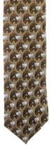 Ermenegildo Zegna Tulip Print Silk Tie