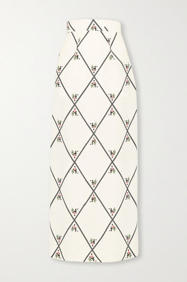 Emilia Wickstead Lorinda Printed Crepe Maxi Skirt - Ivory