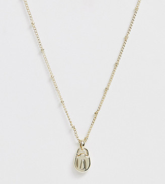 Ted Baker gold plated mini padlock necklace