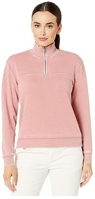 Alternative Burnout 1/4 Zip (Rose Bloom) Women's Sweatshirt