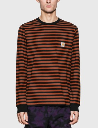 Carhartt Work In Progress Long Sleeve Parker Stripe Pocket T-Shirt