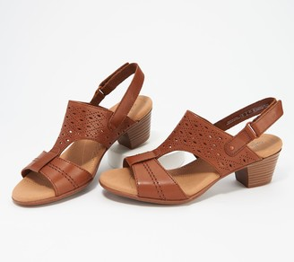 Clarks Collection Leather Heeled Sandals - Valarie Mindy