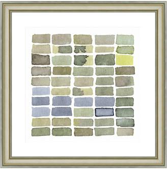 Vintage Print Gallery Stacks Of Green Ii Framed Graphic Art