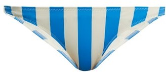 Solid & Striped The Rachel Striped Bikini Briefs - Womens - Blue Stripe