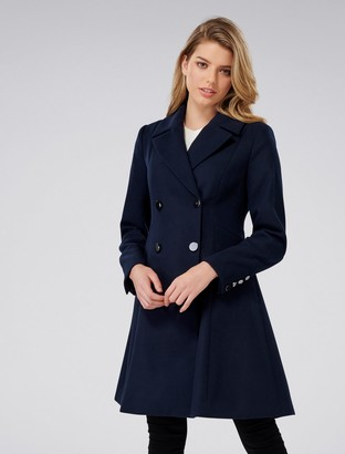 Forever New Paige Petite Skirt Coat - Navy - 4