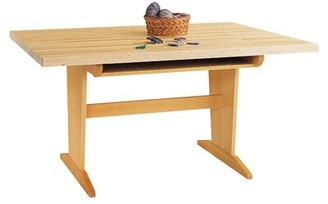 "Manufactured Wood Multi-Student Desk Diversified Woodcrafts Size: 26"" H x 60"" W x 42"" D, Surface Material: Maple"