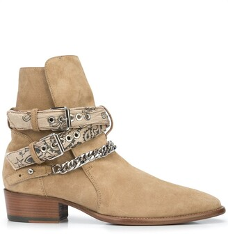 Amiri Tonal Bandana Buckle boots