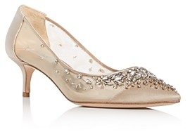 Badgley Mischka Women's Onyx Embellished Pointed-Toe Pumps