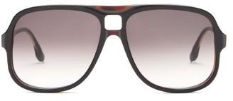 Victoria Beckham Navigator Flat-top Acetate Sunglasses - Black