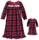 Jammies For Your Families Disney's Mickey Mouse Toddler Girl Plaid Microfleece Nightgown & Doll Gown Set by Jammies For Your Families