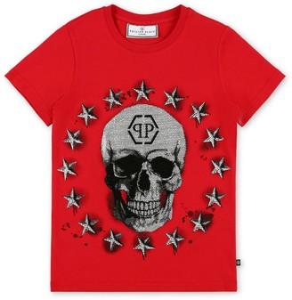 Philipp Plein Junior Embellished Skull T-Shirt (4-16 Years)