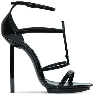 Saint Laurent 110mm Patent Leather Platform Sandals