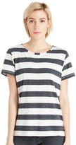 Sole Society Crew Neck Striped Shirt