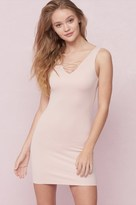 Garage Reversible Lace-Up Bodycon Dress