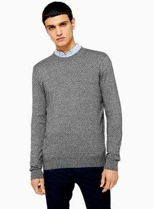 Topman Salt Pepper Essential Jumper