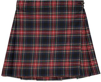 Dolce & Gabbana Kids Checked stretch wool-blend skirt