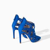 Zara Criss Cross High Heel Sandal