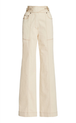 Ulla Johnson Albie Stretch High-Rise Straight-Leg Jeans