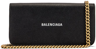 Balenciaga Continental Wallet on Chain Bag in Black & White | FWRD