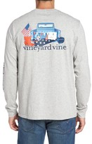 Vineyard Vines Men's Americana Game Day Graphic Long Sleeve T-Shirt