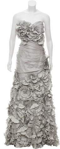 Terani Couture Ruffled Evening Gown
