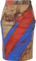 Vivienne Westwood Printed stretch-cotton pencil skirt