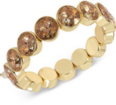 Betsey Johnson Gold-Tone Patina Stone Stretch Bracelet