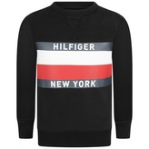 Tommy Hilfiger Tommy HilfigerBoys Black Logo Print Sweater