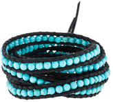Chan Luu Turquoise Bead Wrap Bracelet