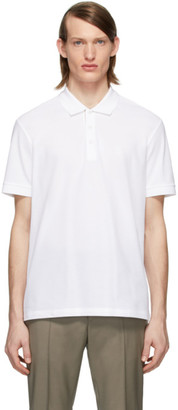Burberry White Eddie Polo