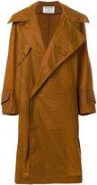 Henrik Vibskov oversized collar wax coat