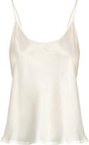 La Perla Scoop-neck silk-satin cami top